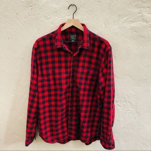 J. Crew Vintage red and black flannel shirt XL